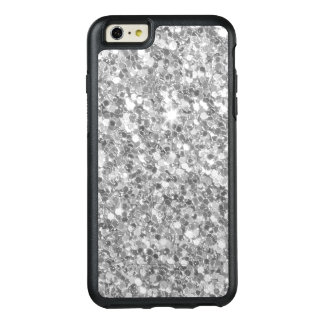 Modern Gray And White Glitter Texture OtterBox iPhone 6/6s Plus Case