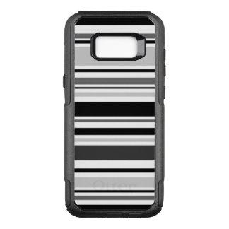 Modern Gray, Black, White Stripes OtterBox Commuter Samsung Galaxy S8+ Case