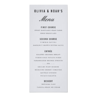 Modern Gray Bokeh Blur Elegant Wedding Menu Card 10 Cm X 24 Cm Invitation Card