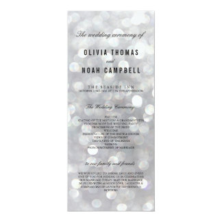 Modern Gray Elegant Wedding Ceremony Program Card 10 Cm X 24 Cm Invitation Card