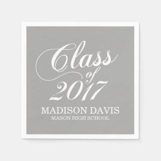 Modern Gray   Graduation Napkins Paper Napkins