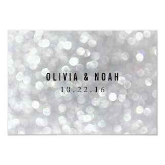 Modern Gray Lights Elegant Wedding Note Cards 9 Cm X 13 Cm Invitation Card