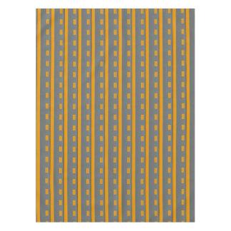 Modern Gray Orange Yellow Geometric Pattern Tablecloth