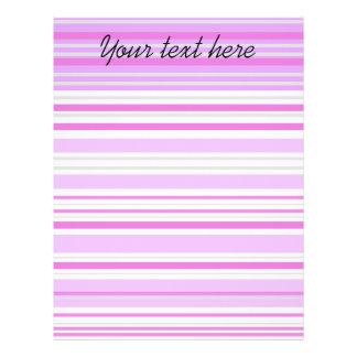 Modern gray violet and pink horizontal stripes 21.5 cm x 28 cm flyer