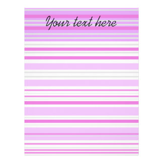 Modern gray violet and pink horizontal stripes personalized flyer