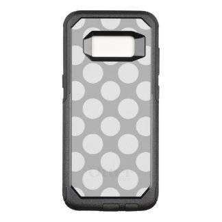 Modern Gray White Polka Dots Pattern OtterBox Commuter Samsung Galaxy S8 Case