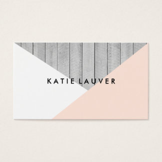 Modern gray wood cute peach white color block chic