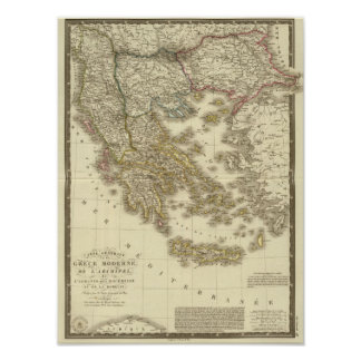 Modern Greek Islands, Albania, Macedonia Poster
