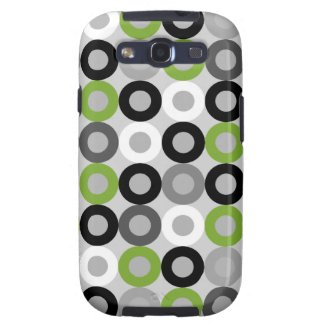 Modern green black and white Samsung Galaxy S Case Samsung Galaxy S3 Cover