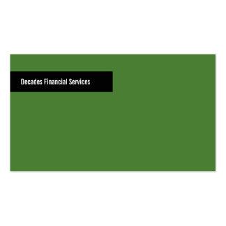 Modern Green Black Business Card