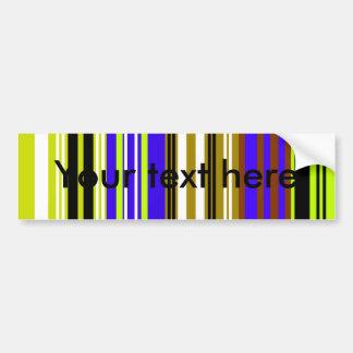 Modern green brown and blue stripes bumper sticker