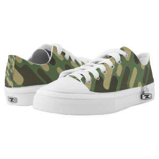 Modern Green Camouflage. Camo your Low Tops