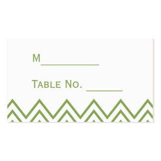 Modern Green Chevron Wedding Place Card Pack Of Standard Business Cards