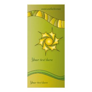 Modern green design rack card template
