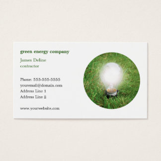 Modern Green Energy Business Card Template