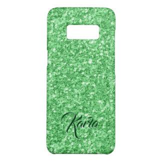 Modern Green Faux Glitter Monogram Case-Mate Samsung Galaxy S8 Case