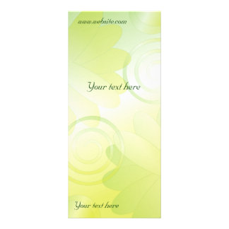 Modern green floral design rack card