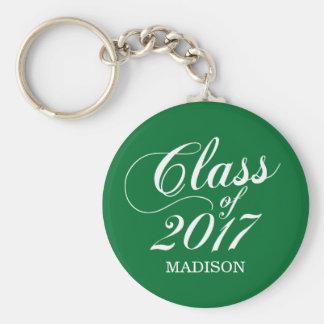 Modern Green   Graduation Basic Round Button Key Ring