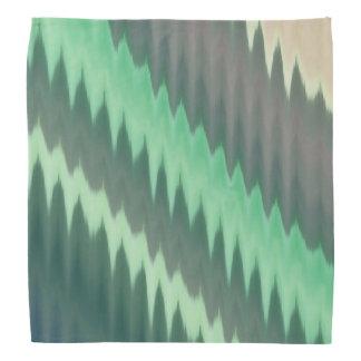 Modern Green Grey Turquoise Ikat Chevron Zigzag Do-rag