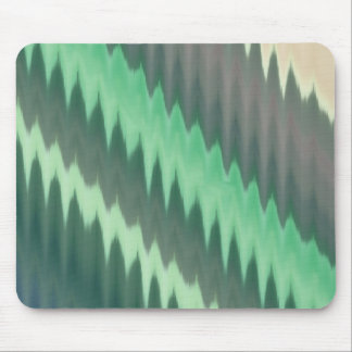 Modern Green Grey Turquoise Ikat Chevron Zigzag Mouse Pad