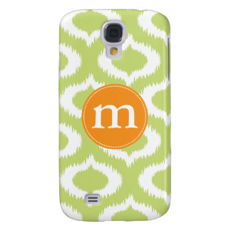 Modern Green Ikat Diamonds Personalized Galaxy S4 Case