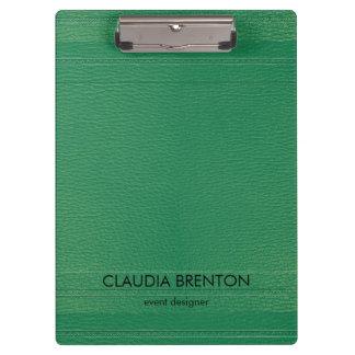 Modern Green Leather Look Clipboard