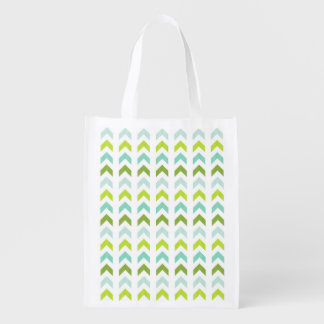 Modern Green, Mint, Aqua, White Geometric Pattern