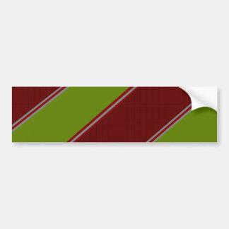 Modern green red diagonal stripes bumper sticker