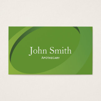 Modern Green Swish Apothecary Business Card
