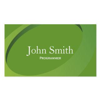 Modern Green Swish Programmer Business Card