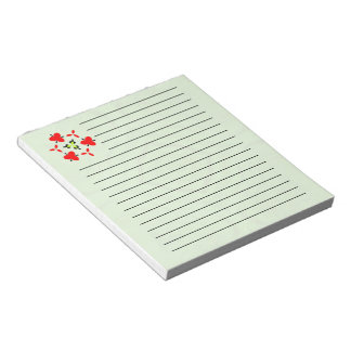 Modern Green wood pattern Notepad