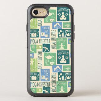 Modern green Yoga Pattern OtterBox Symmetry iPhone 8/7 Case