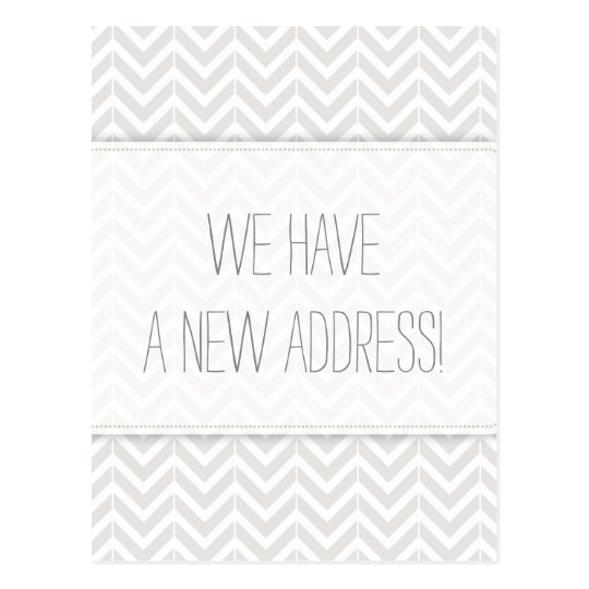 Modern Grey and White Chevron Change of Address