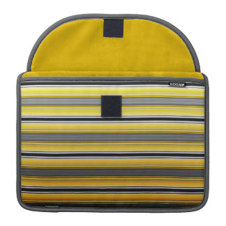 Modern Grey and Yellow Rickshaw Flap Sleeve Sleeve For MacBook Pro