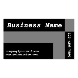 modern grey black squares pack of standard business cards