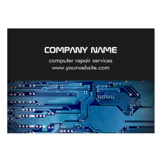 Modern Grey Blue Circuit Board Computer Repair Pack Of Chubby Business Cards