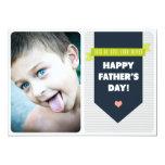 Modern Grey Chevron | Photo Father's Day Flat Card 13 Cm X 18 Cm Invitation Card