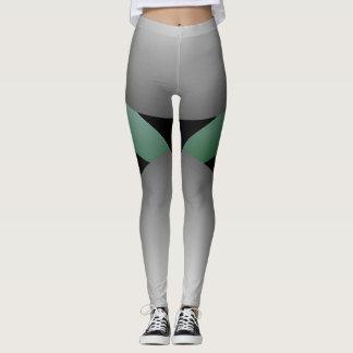 Modern Grey Fashion Leggings Chic Fun