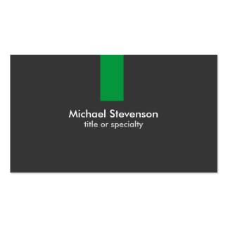 Modern Grey Green Stripe Standard Business Card