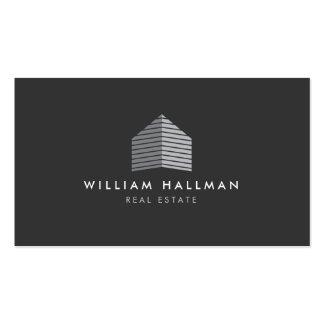 Modern Grey Home Builder Real Estate Business Card