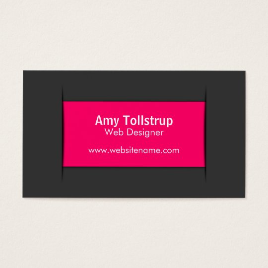 Modern Grey Pink Business Cards