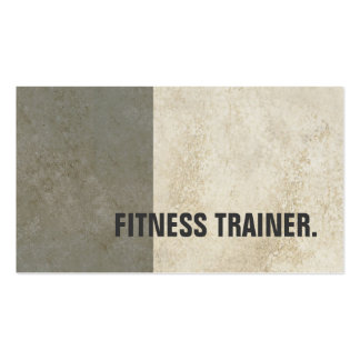 Modern Grey Stone Wall Grey Fitness Trainer Pack Of Standard Business Cards