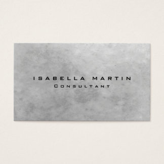 Modern Grey Stone Wall Unique Trendy Creative Business Card