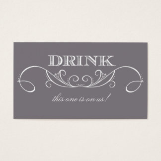 151 wedding drink voucher business cards and wedding for Complimentary drink ticket template