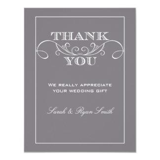 Modern Grey Wedding Thank You Cards 11 Cm X 14 Cm Invitation Card