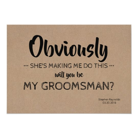 BEST MAN Funny Proposal Invitation