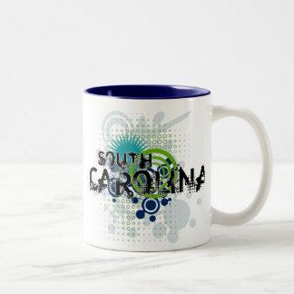 Modern Grunge Halftone South Carolina Mug