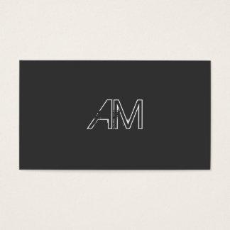 Modern Grunge Monogram on Carbon Black