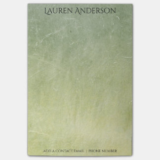 Modern Grungy Mint Green Cement Wall Personalised Post-it® Notes