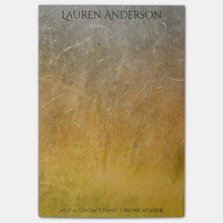 Modern Grungy Mustard Cement Wall Personalised Post-it® Notes